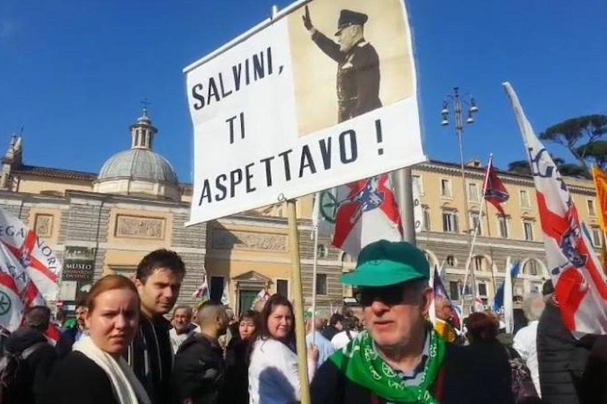 Salvini minaccia il PD... e non dovremmo chiamarlo fascista?