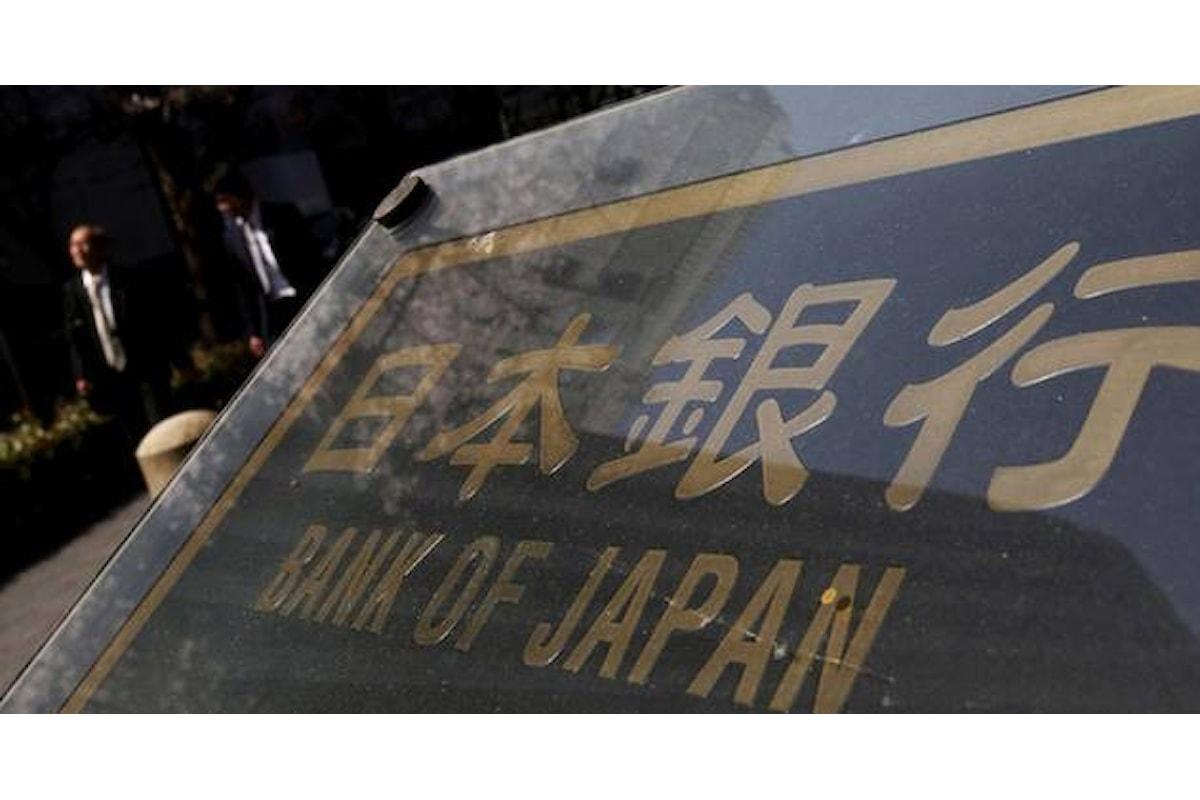 Economia in frenata anche in Giappone. La BoJ potrebbe muoversi