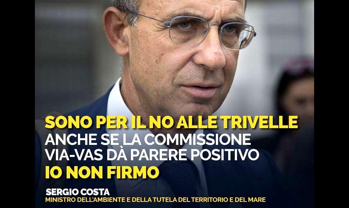 Il no alle trivelle del ministro Costa crea tensioni nel Governo tra Lega e 5 Stelle