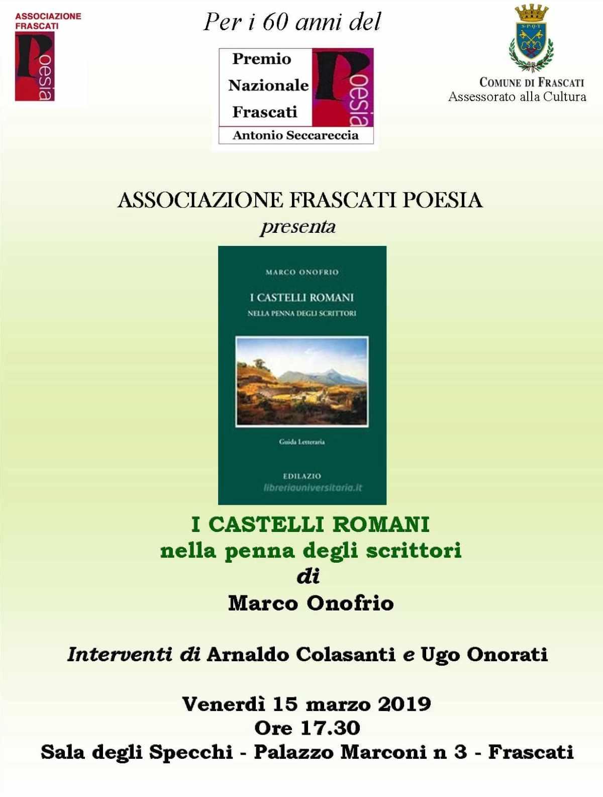 """Frascati Poesia presenta: """"I Castelli Romani nella penna degli scrittori"""""""