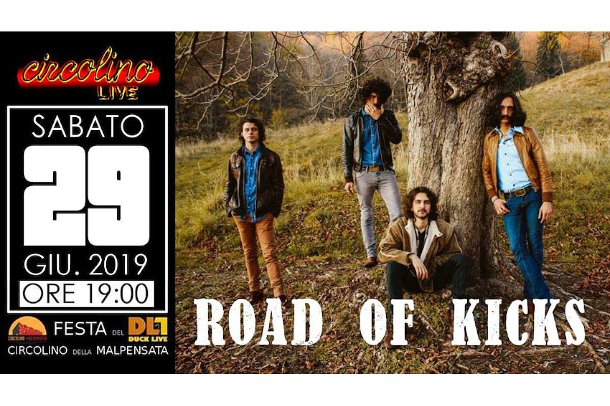 ROAD OF KICKS live sabato 29 giugno al Circolino della Malpensata di Bergamo