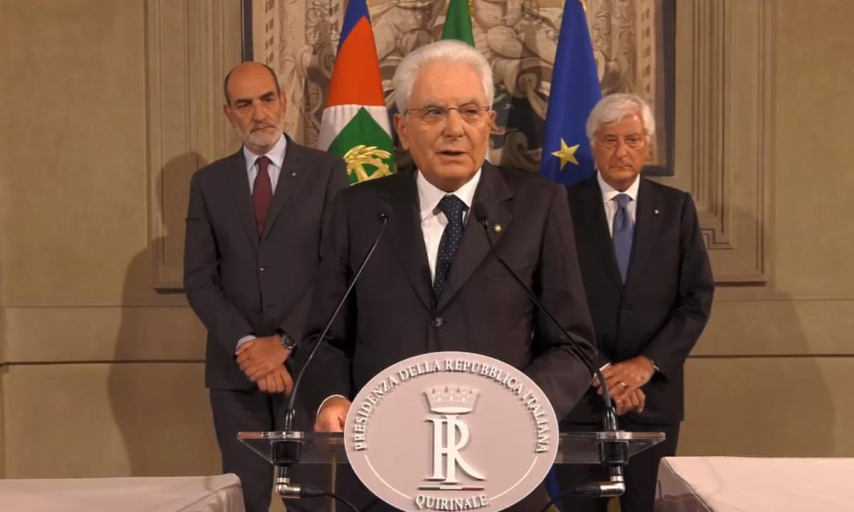 Mattarella ha dato tempo a 5 Stelle e PD fino a martedì 27 agosto per formare un nuovo governo, diversamente si andrà al voto