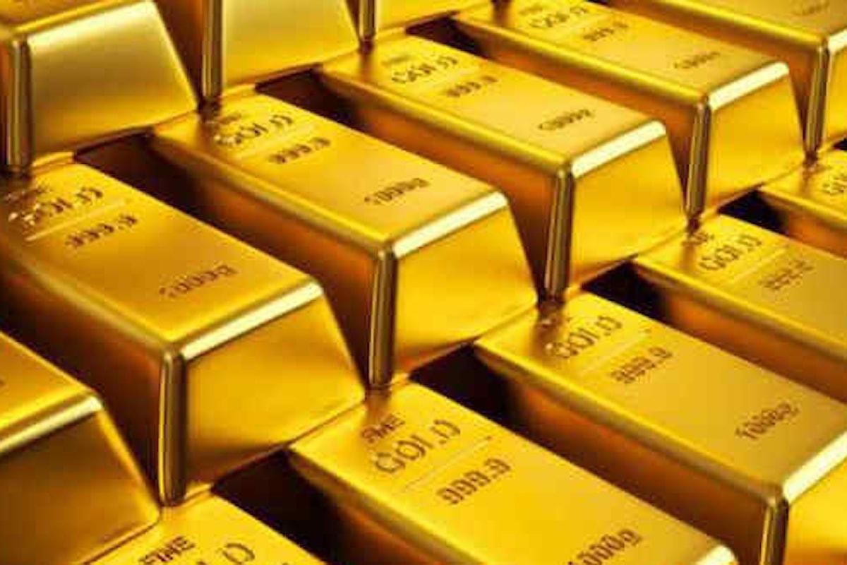 Quotazioni dell'oro incapaci di riaffacciarsi oltre la soglia dei 1500