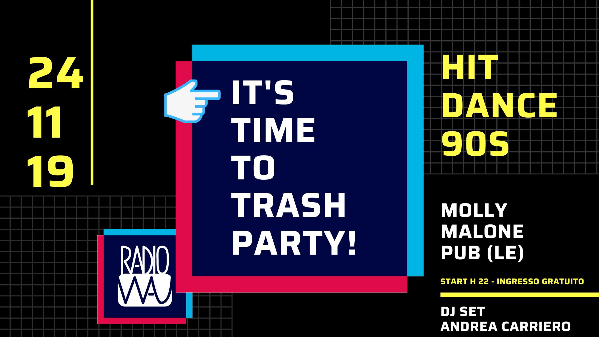 Trash Party: Domenica 24 Novembre tornano gli appuntamenti universitari targati Radio Wau.