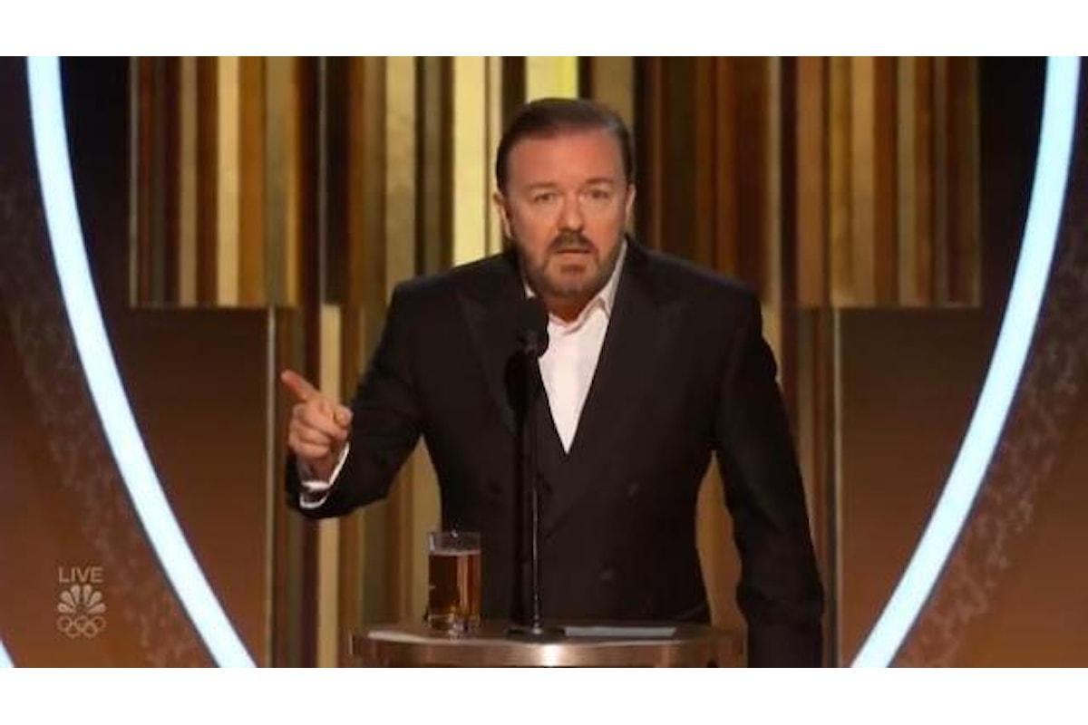 Ai Golden Globes 2020 trionfa il monologo di Richy Gervais contro Hollywood