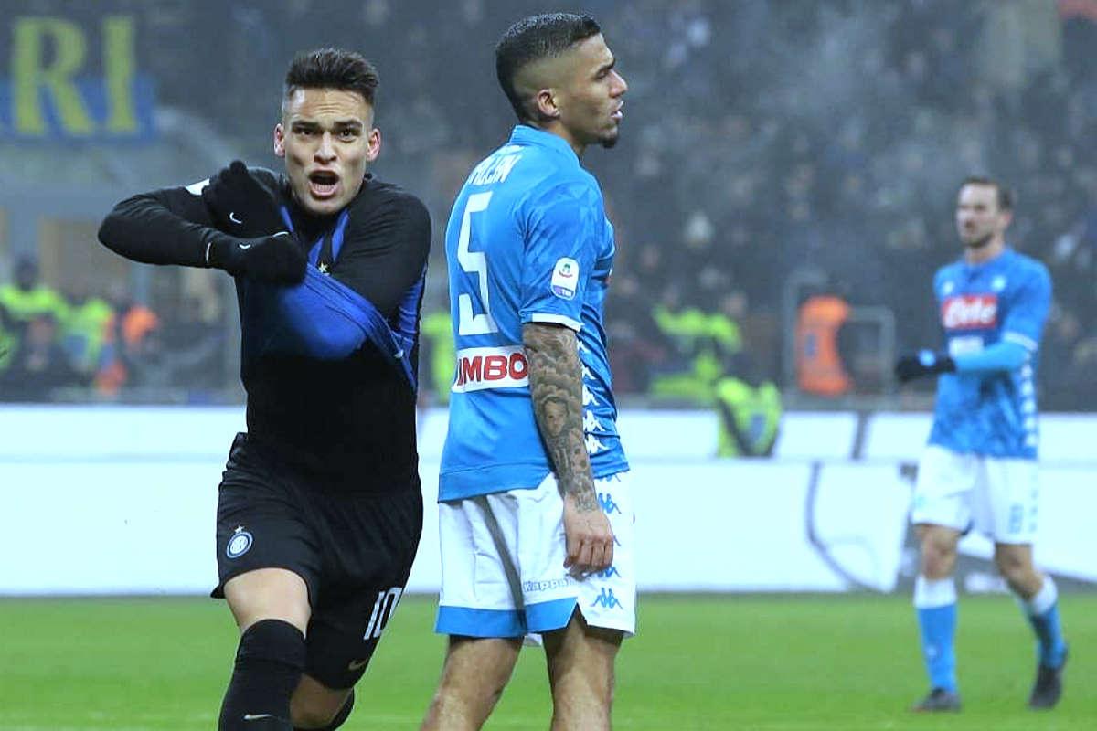 Napoli - Inter il primo big match del 2020