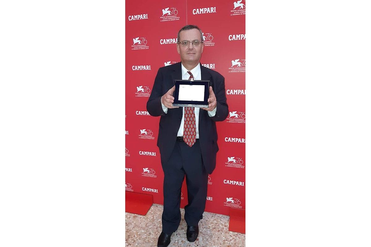 Daniele Mariotto premiato alla 76ma Mostra del Cinema di Venezia con il Venice Ulysses Experience special award per la comunicazione