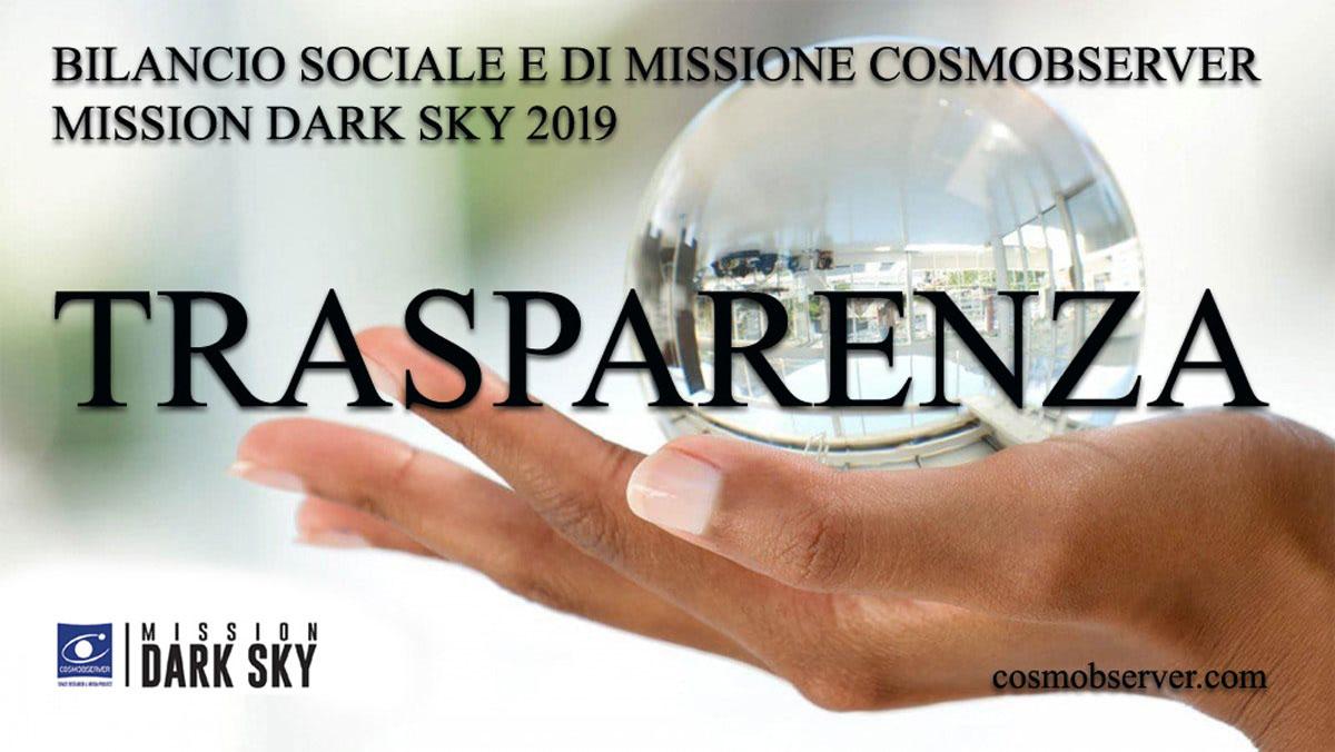 COSMOBSERVER, Il sito di divulgazione scientifica dedicato allo spazio pubblica il suo quinto bilancio sociale e di missione, includendo quello della sua campagna sull'inquinamento luminoso