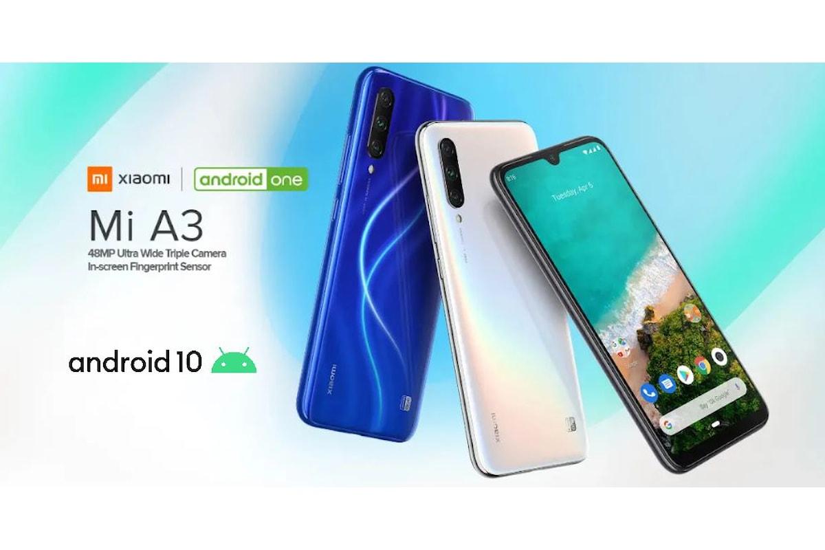 Possessori dello Xiaomi Mi A3 gioite: finalmente è arrivato Android 10