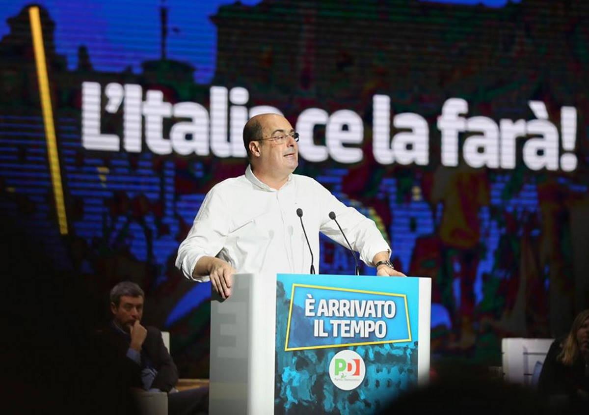 Zingaretti, segretario Pd, malato sano di coronavirus