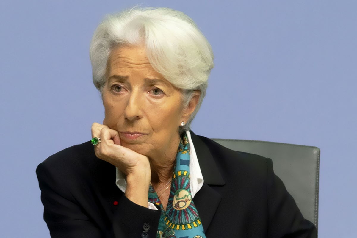 Con i mercati finanziari in ginocchio e l'economia in crisi se ci si mette pure la Lagarde...
