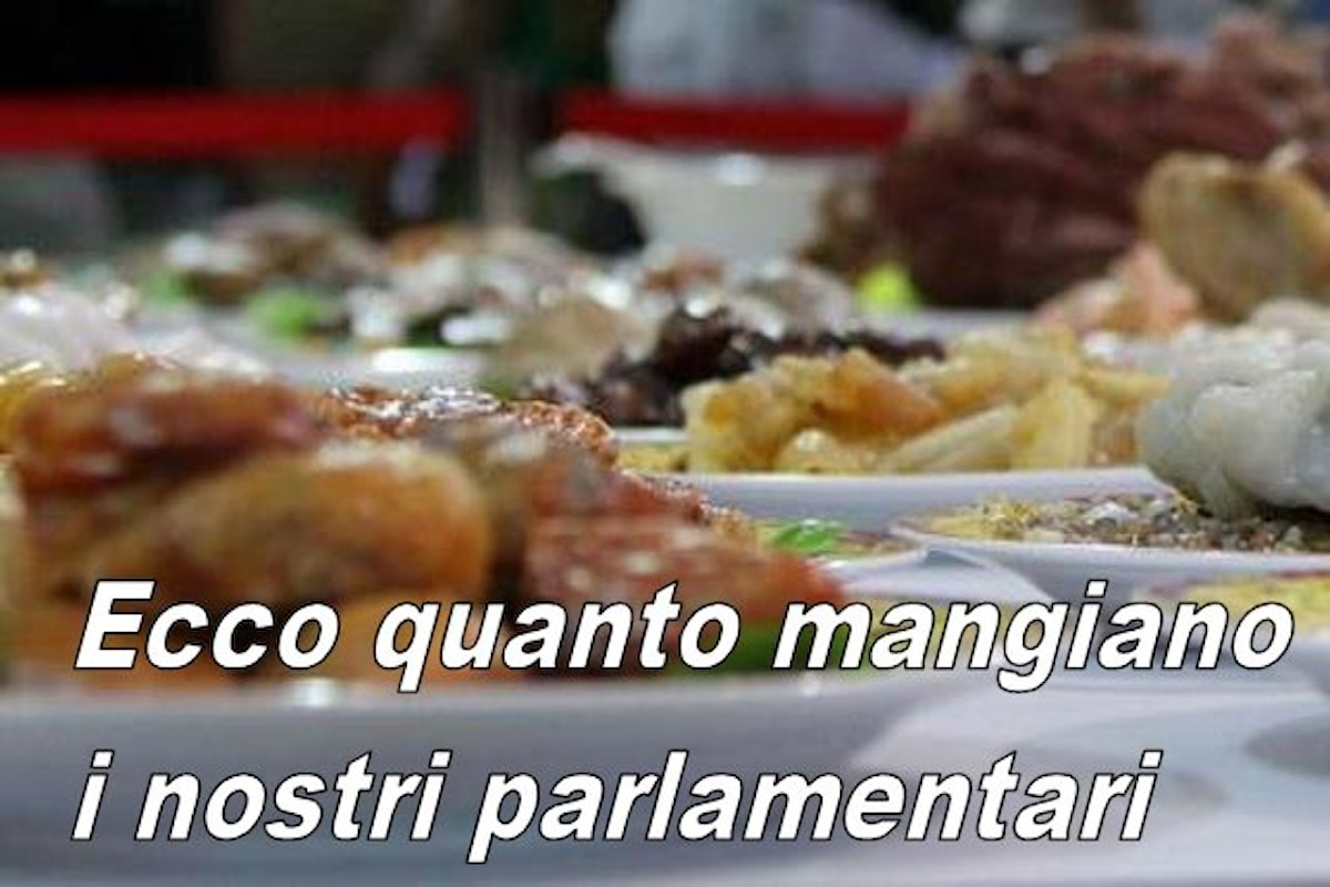 Rimborsiamo ai nostri parlamentari migliaia di euro al mese per pranzi e cene ma secondo loro ad una famiglia indigente basta un buono da 25 euro