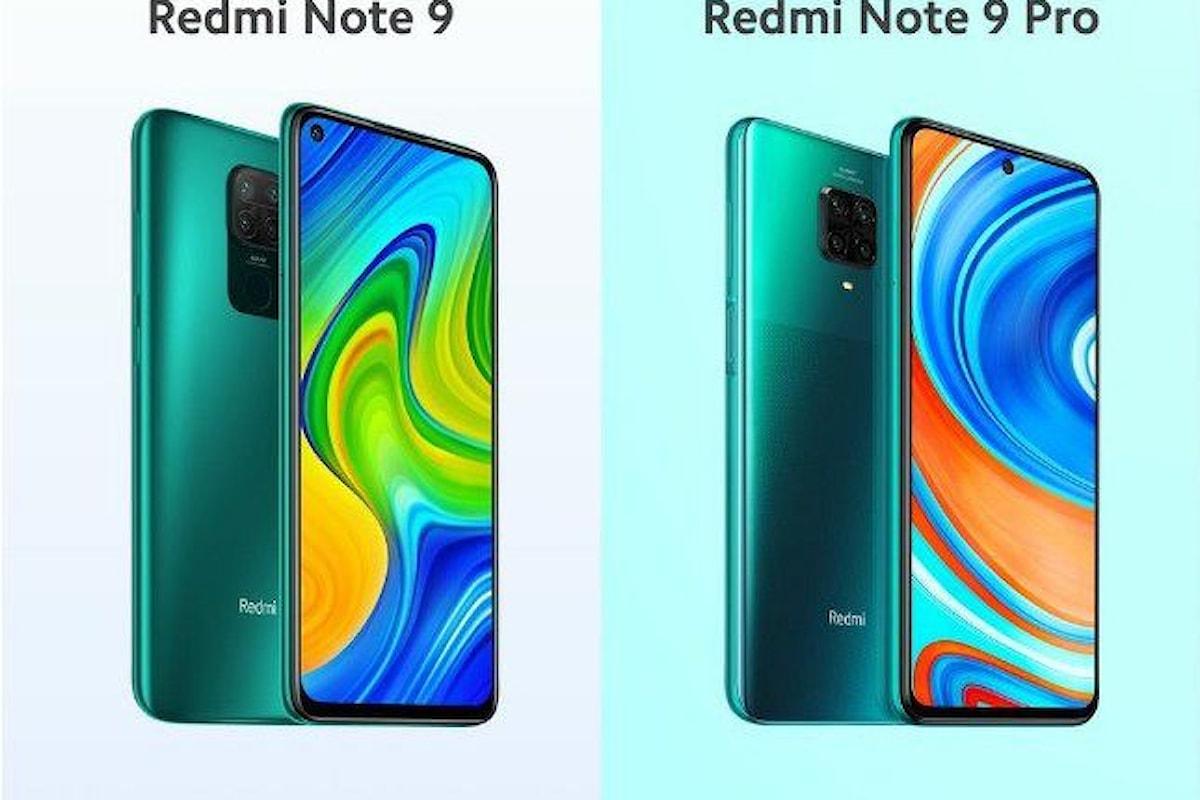 Redmi Note 9 e Redmi Note 9 Pro presentati ufficialmente: i nuovi top di gamma della fascia media