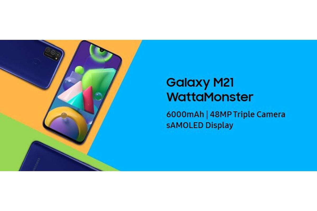 Samsung Galaxy M21 arriva ufficialmente in Italia: grande batteria, buone caratteristiche tecniche e prezzo interessante