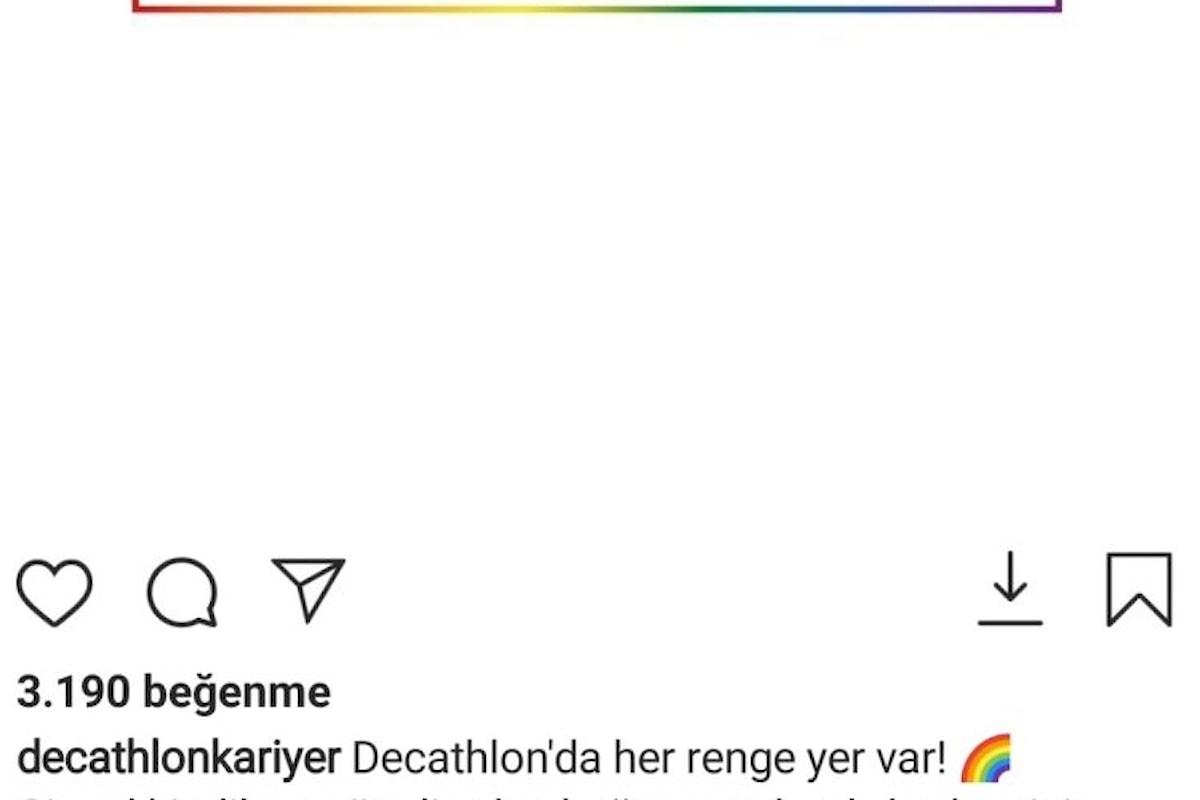 Decathlon Turchia Sotto accusa per un post pro LGBT+