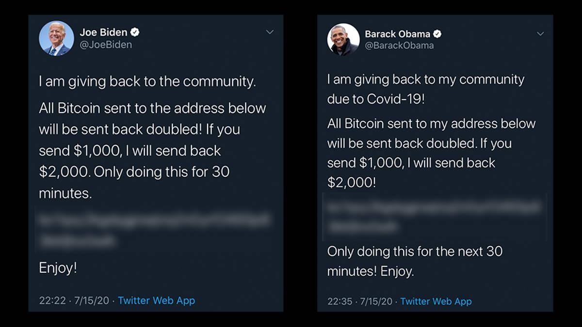 Gli hacker prendono di mira gli account Twitter di Joe Biden, Elon Musk, Jeff Bezos e Bill Gates per una truffa sui bitcoin