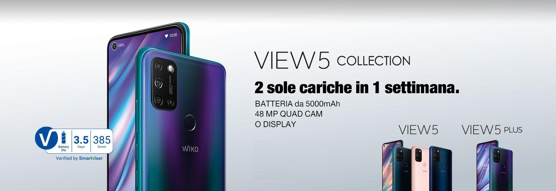 Wiko View 5 e Wiko View 5 Plus sono stati presentati ufficialmente: gli smartphone caricare solo due volte a settimana