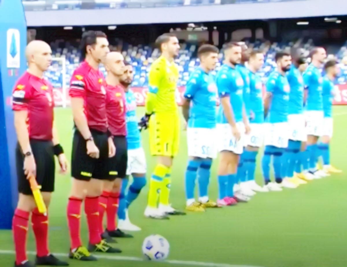 Tutti negativi al tampone giocatori e staff del Napoli dopo la partita con il Genoa di domenica scorsa