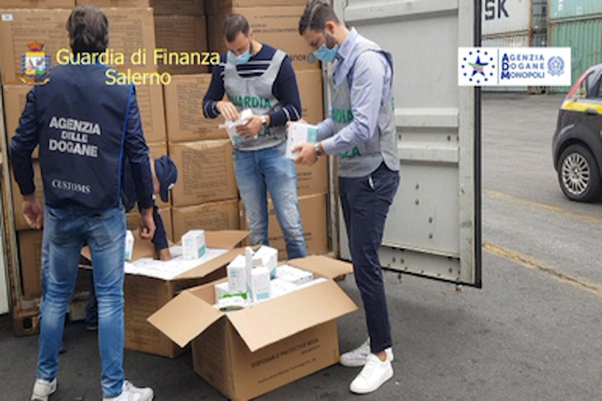 Salerno: scovato container di mascherine false