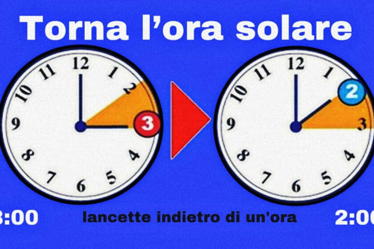È tornata l'ora solare... si cambia per l'ultima volta