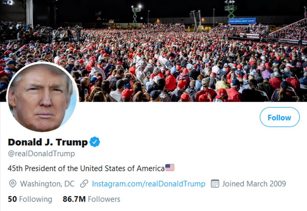 Twitter rimuove post che augurano la morte a Trump