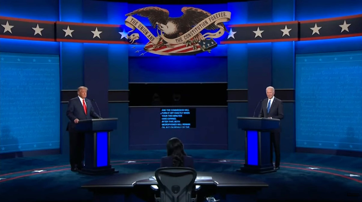 Ecco come è andato l'ultimo dibattito tra Trump e Biden prima delle presidenziali di novembre