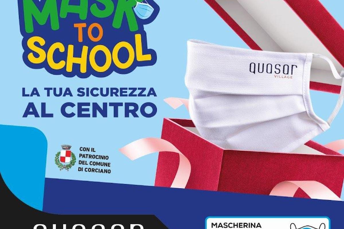 """Perugia: il Centro Commerciale Quasar Village presenta """"MASK TO SCHOOL"""""""