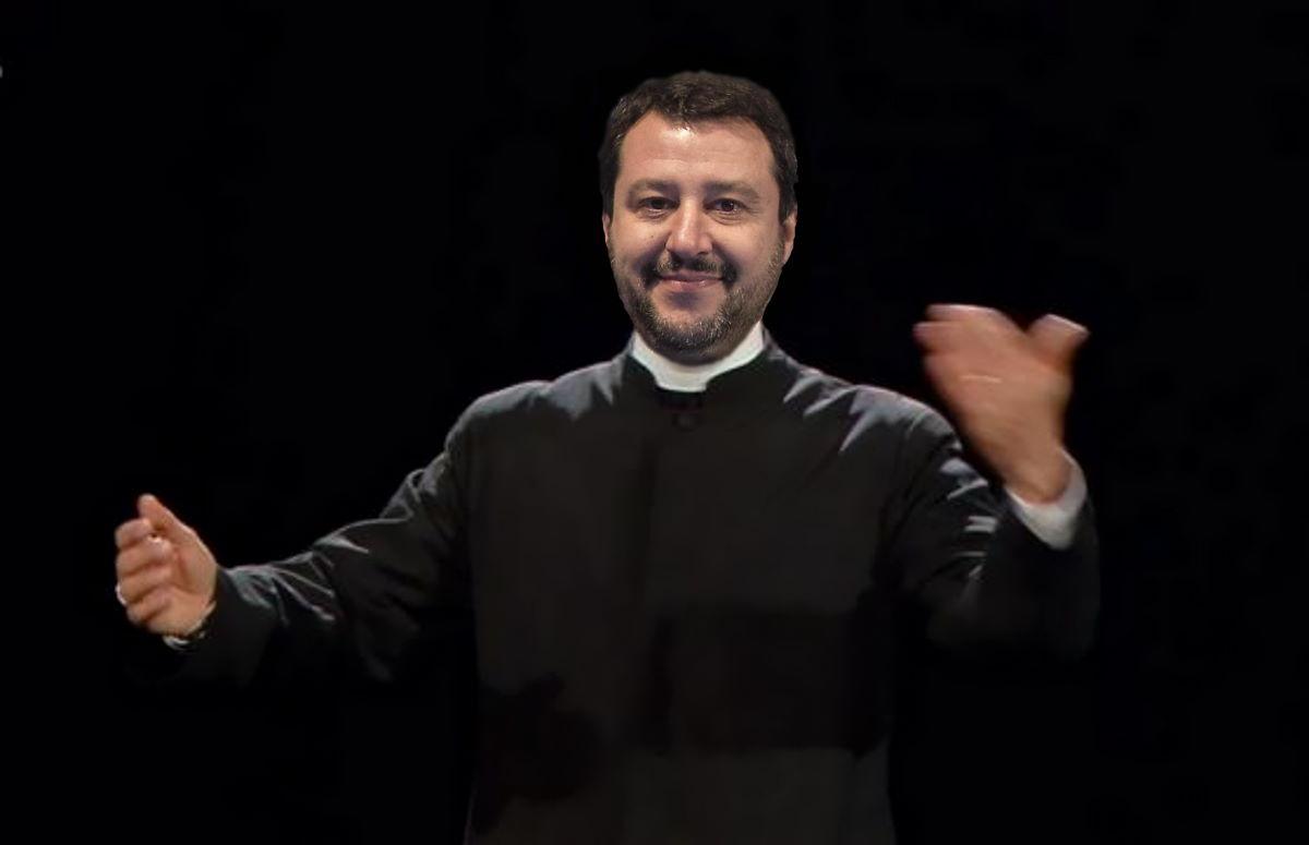Salvini, Gesù e... Babbo Natale!