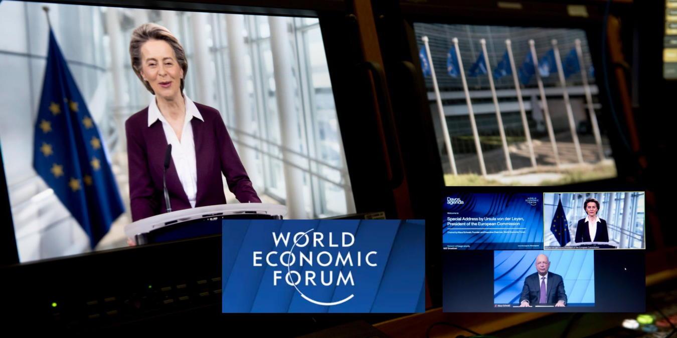 Ambiente e mondo virtuale al centro del discorso della Von der Leyen per l'Agenda di Davos 2021