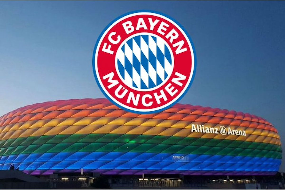Bayern Monaco in campo ricordando l'omocausto