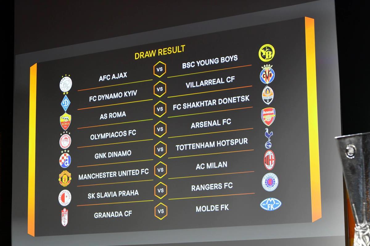 Agli ottavi di Europa League il Milan affronterà il Manchester United e la Roma lo Shakhtar Donetsk
