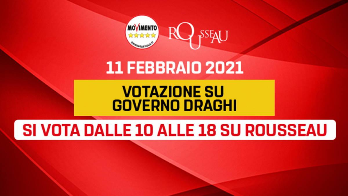 Gli iscritti al Movimento 5 Stelle hanno detto sì al Governo Draghi con 44.177 voti