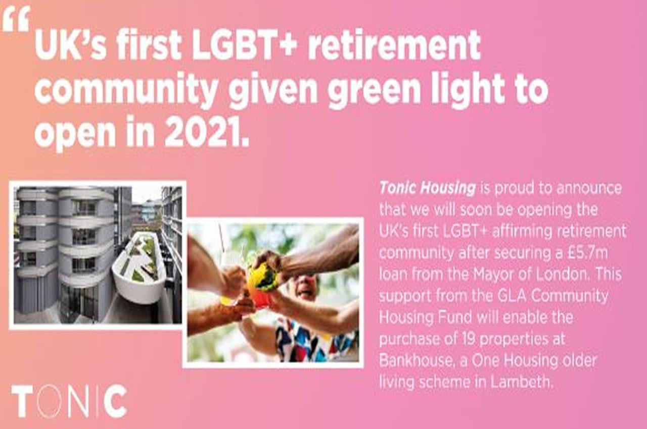 Regno Unito, a Londra il primo complesso dedicato ai pensionati LGBT+