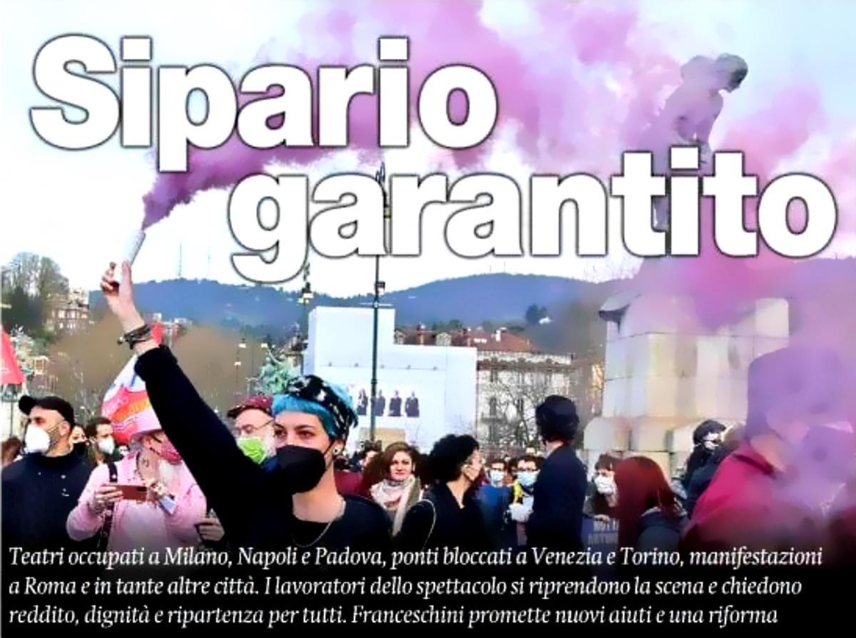 Parte da Milano la protesta dei lavoratori dello Spettacolo in occasione della Giornata Mondiale del Teatro
