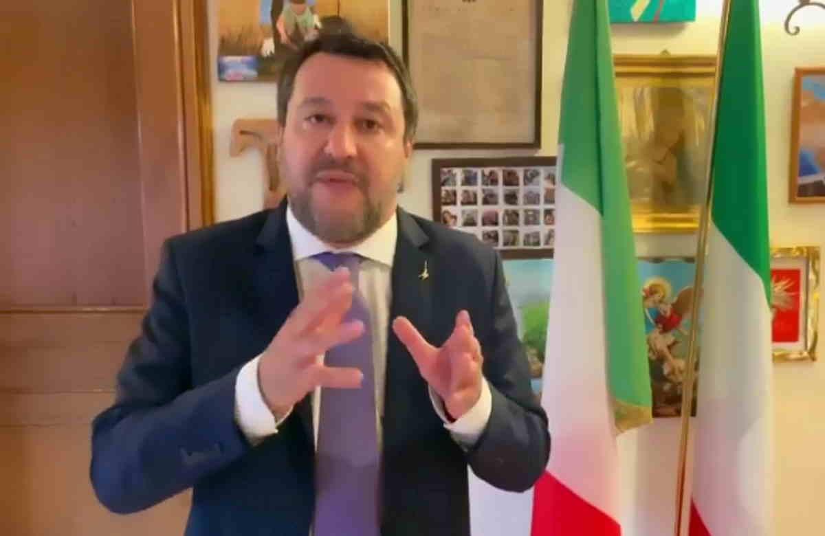 Salvini contro Draghi in nome del buonsenso, del ritorno alla vita, del lavoro, delle libertà
