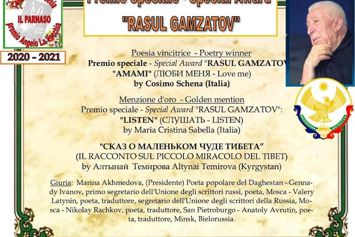 Poesia: Don Cosimo Schena trionfa al Premio Speciale Rasul Gamzatov