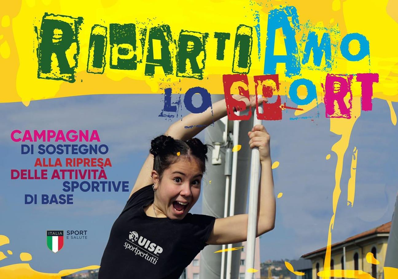 RipartiAmo lo sport, campagna della UISP per supportare la ripresa delle attività sportive di base