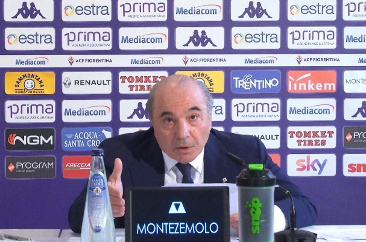 Fiorentina, la conferenza stampa di Commisso... a muso duro