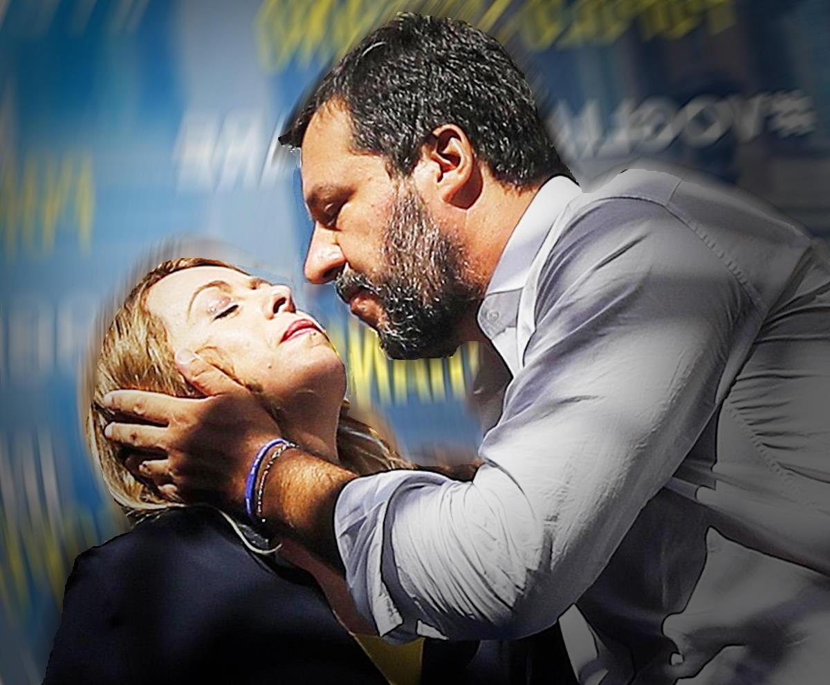 Meloni - Salvini, entrambi divisi... appassionatamente