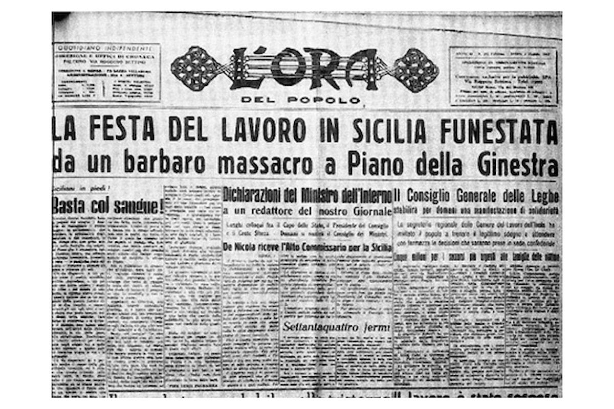 Musacchio: il mio primo maggio nel ricordo delle vittime della prima strage mafiosa dell'Italia repubblicana.