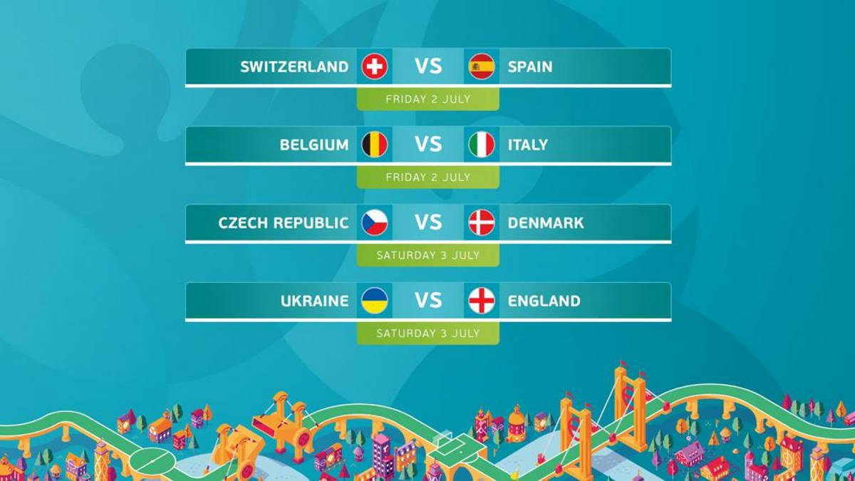 Date e orari degli incontri dei quarti idi finale di Euro 2020