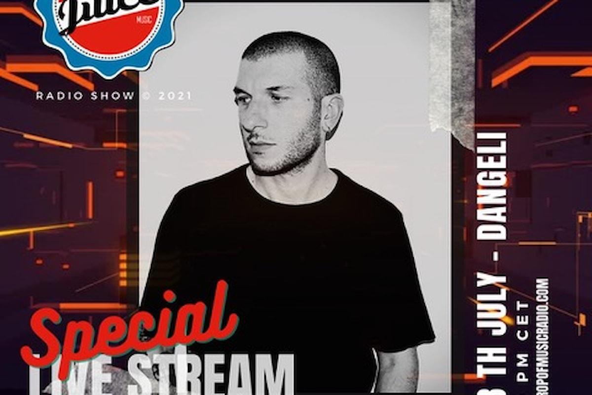 Nasty Juice Radio Show: l'8 luglio '21 Dangeli in live streaming su Crop of Music Radio