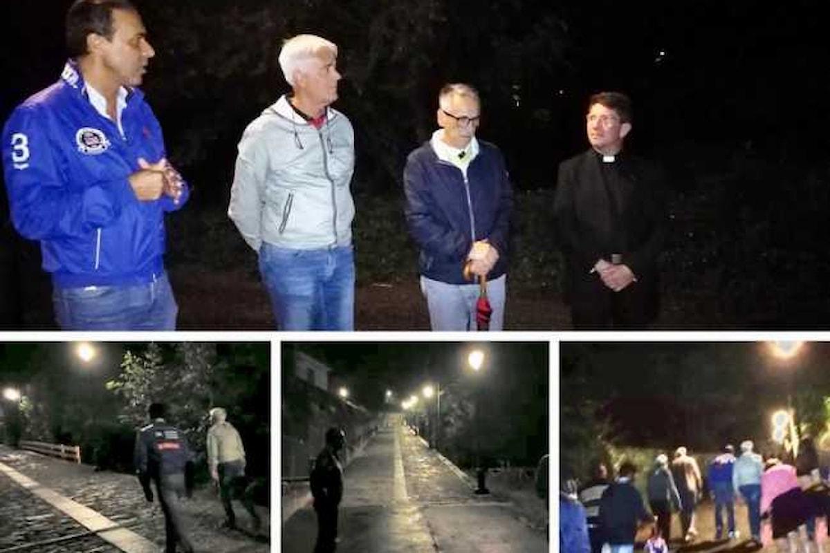 Nuove luci lungo la via del Sacro Monte Calvario di Domodossola