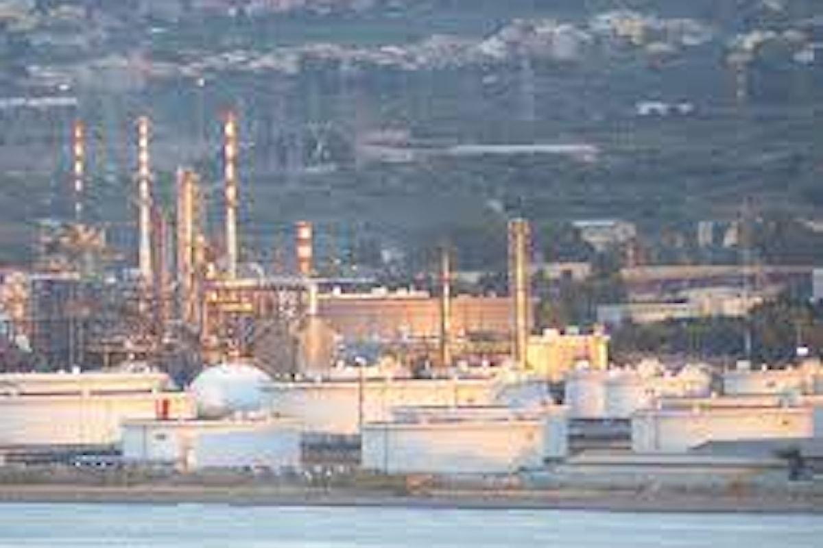 Milazzo (ME) – Emissioni dalla Raffineria, nota di ASP ed ARPA