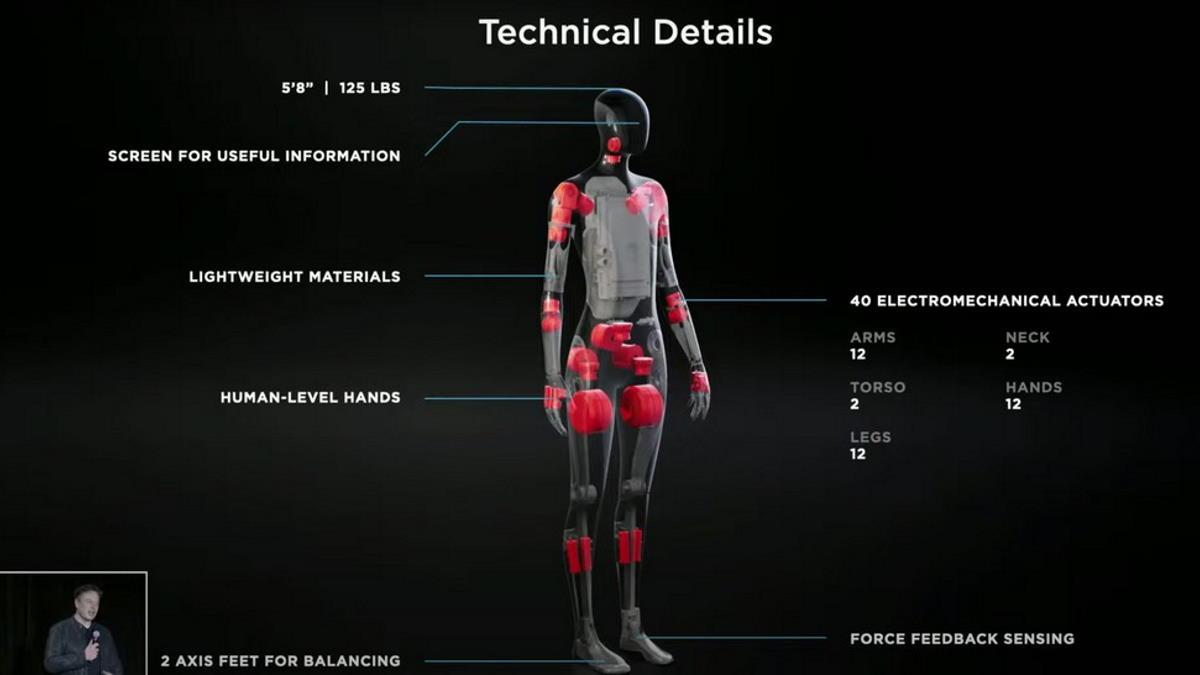Elon Musk ha presentato un robot umanoide il cui prototipo sarà pronto già dall'anno prossimo