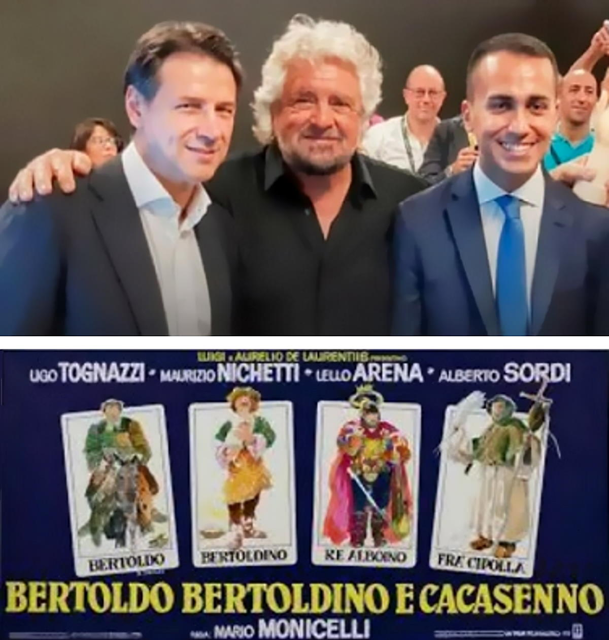 I Bertoldo, Bertoldino e Cacasenno della politica italiana