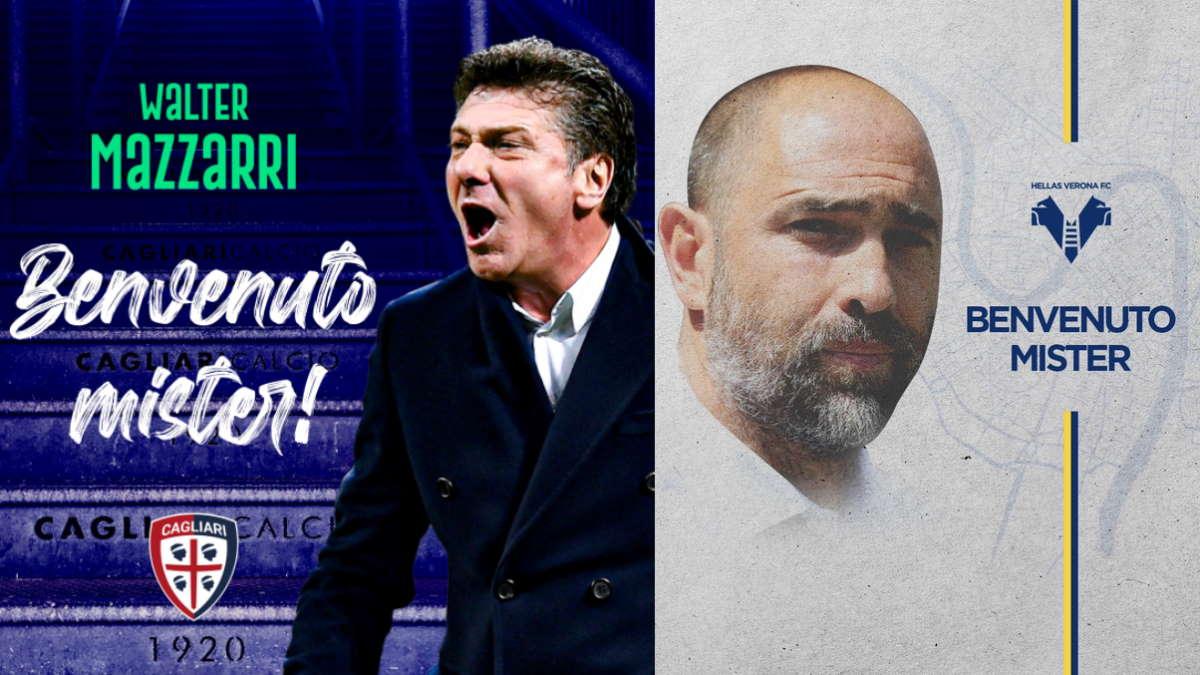 I nuovi allenatori della Serie A: Mazzarri al Cagliari e Tudor al Verona