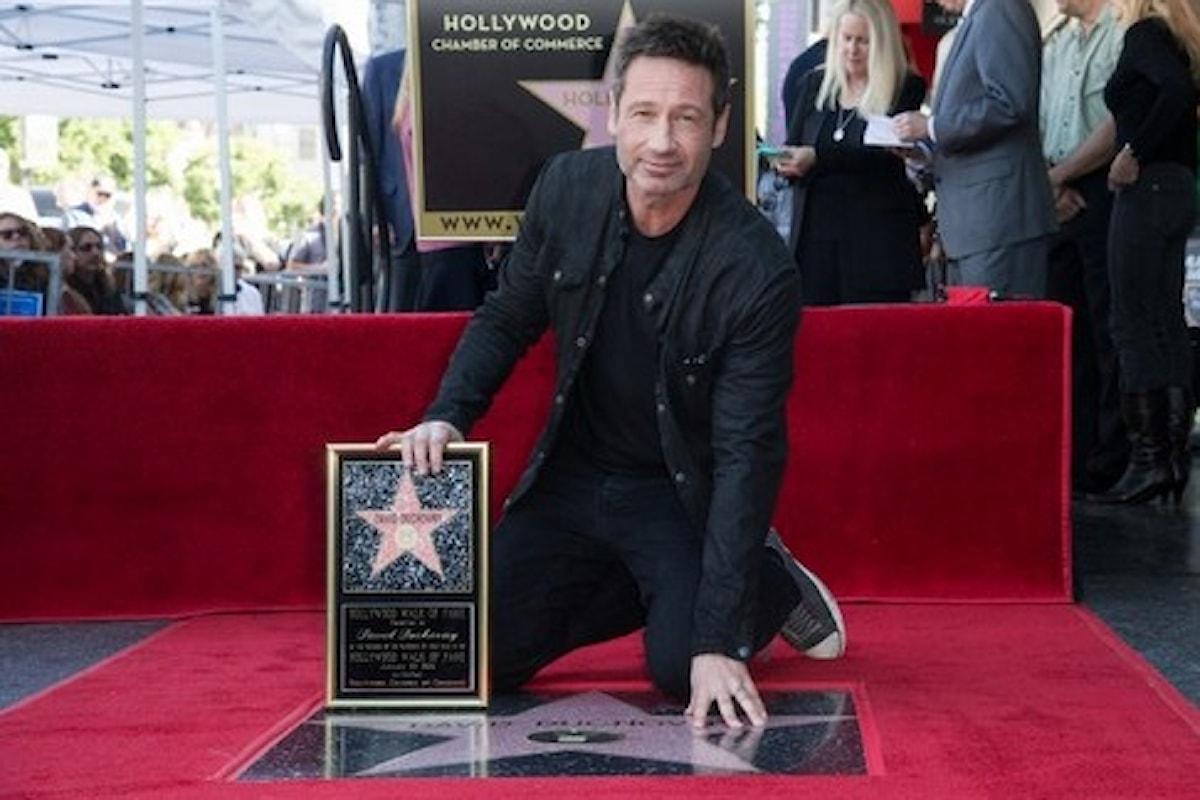 Sulla Walk of Fame la stella di David Duchovny