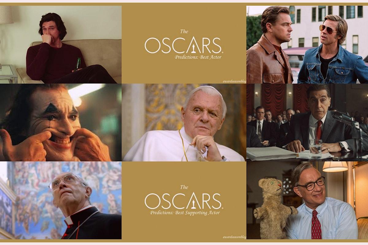 Quali sono ad ottobre gli attori favoriti per una nomination agli Oscars 2020 nelle categorie Miglior attore e Miglior attore non protagonista?
