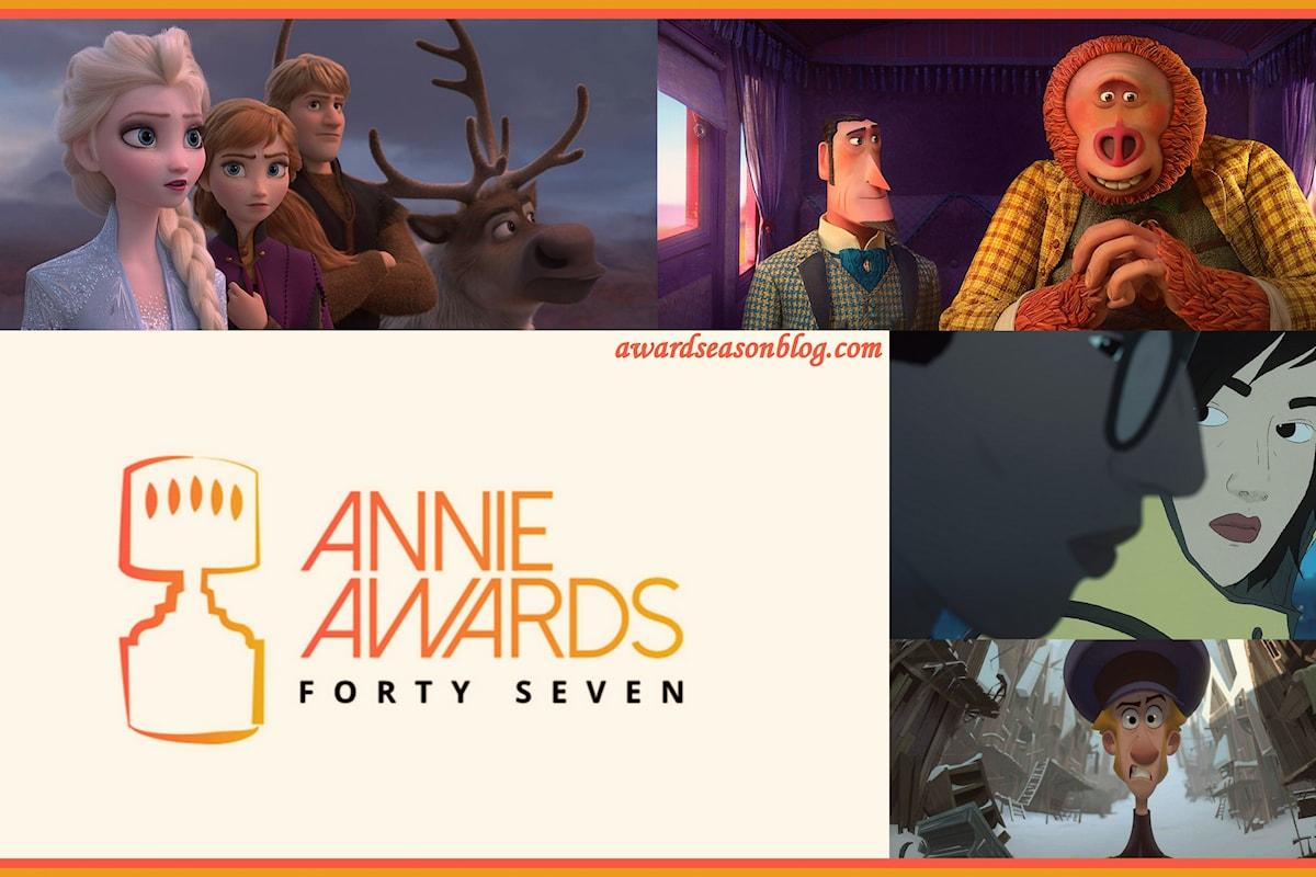 Agli Oscar del cinema d'animazione, gli Annie Awards, Frozen 2 e Missing Link guidano le nomination